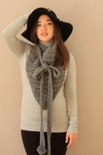 picture of Miyuki crochet cowl